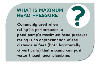 What is Maximum Head Pressure?