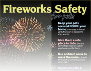 Fireworks Safety Tips for Pets (infographic)