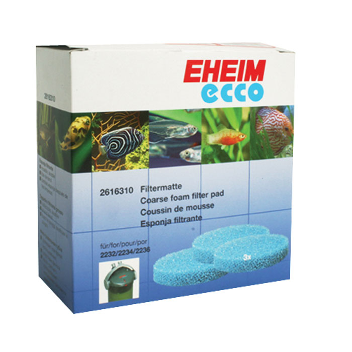 Coarse Blue Filter Pads For Eheim Ecco Canister Filters 2231 2236 3 Pk.