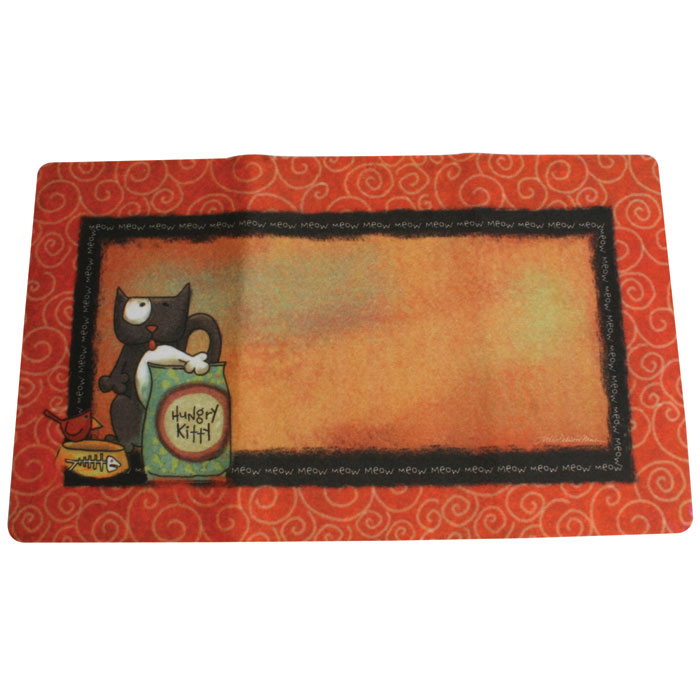 Drymate Cat Place Mat Hungry Kitty 12 In. X 20 In.