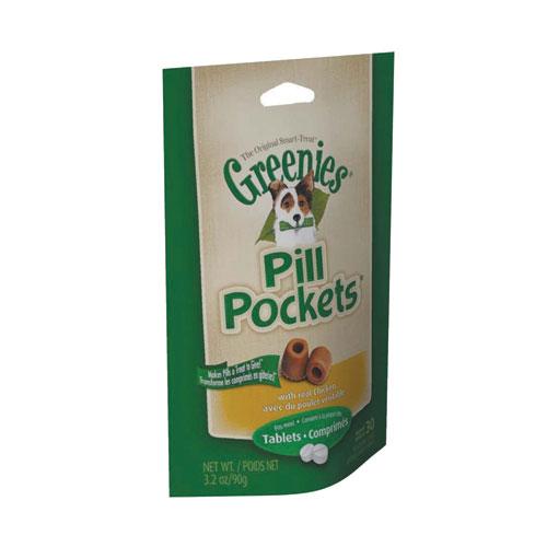 Greenies Pill Pockets Tablets Chicken 3.2 Oz. Chicken