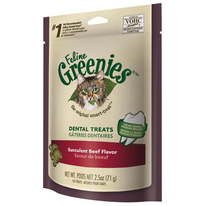 Feline Greenies Beef 2.5 Oz.
