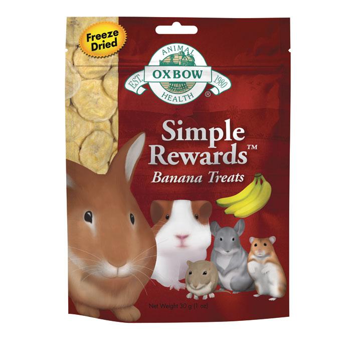 Oxbow Simple Rewards Treats Banana 1 Oz.