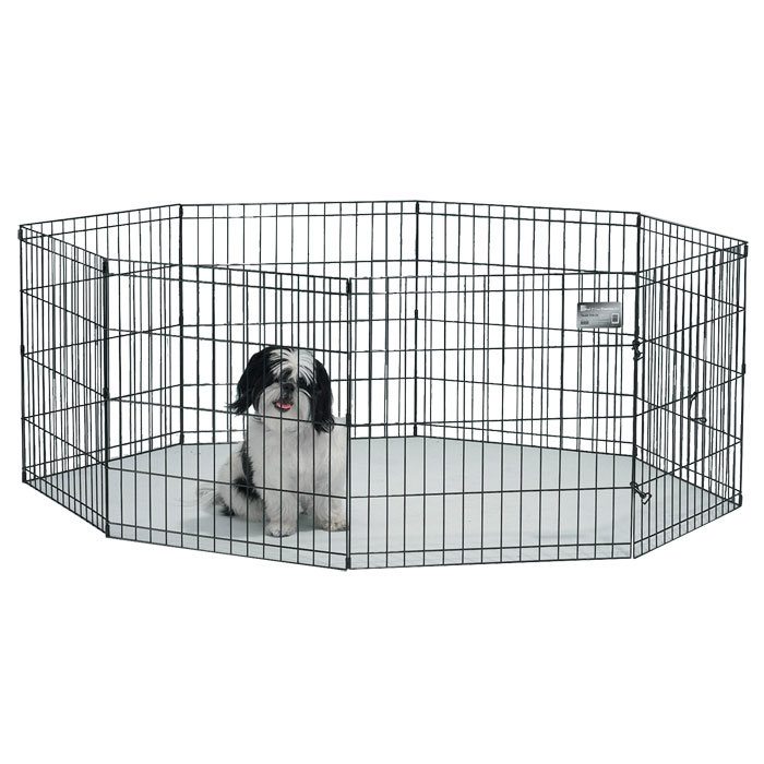 Midwest exercise pen with door 24 in 11 to 25 lb for Dog exercise pen with door