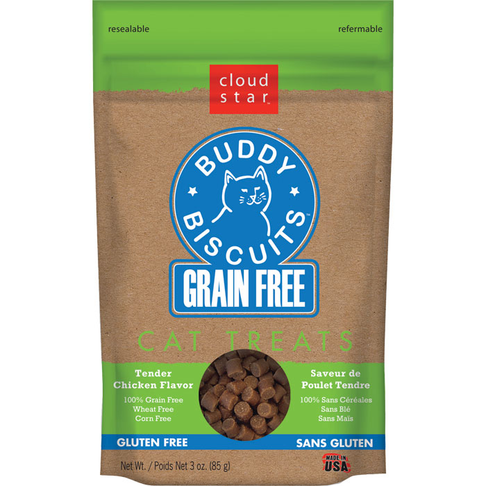 Buddy Biscuits Grain Free Cat Treats Chicken 3 Oz.