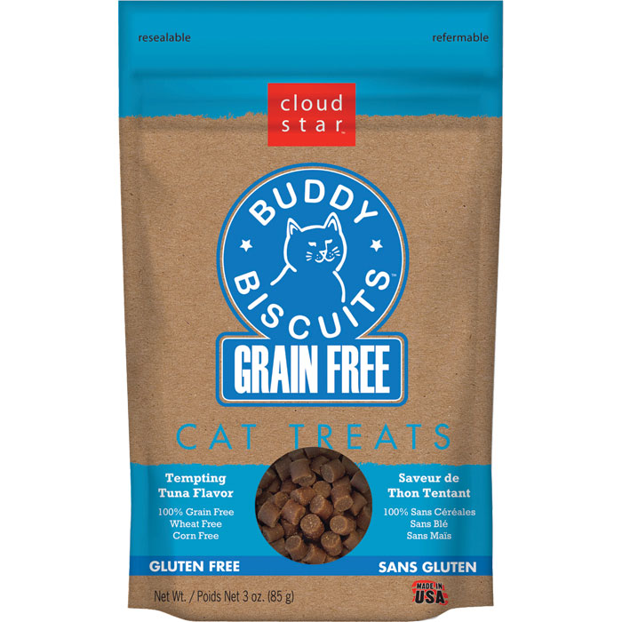 Buddy Biscuits Grain Free Cat Treats Tuna 3 Oz.