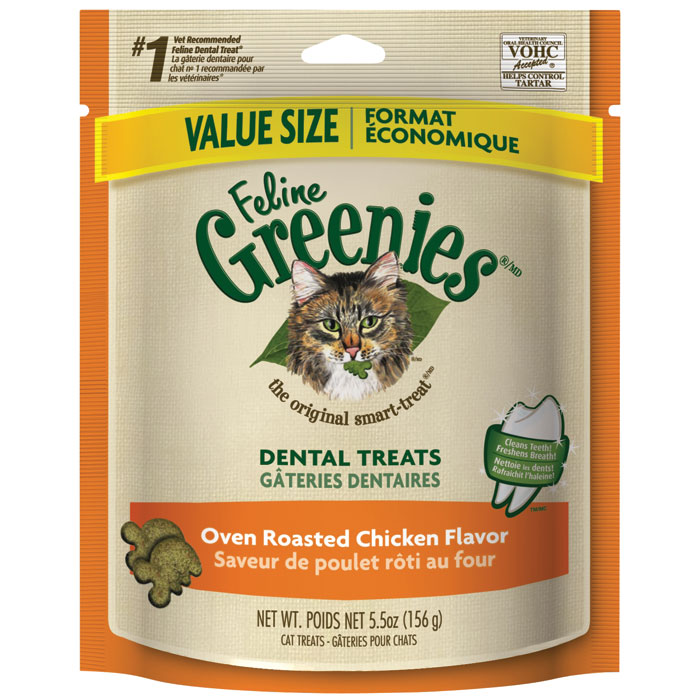 Feline Greenies Oven Roasted Chicken 5.5 Oz.