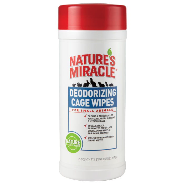 Natures Miracle Small Animal Cage Wipes 35 Pk