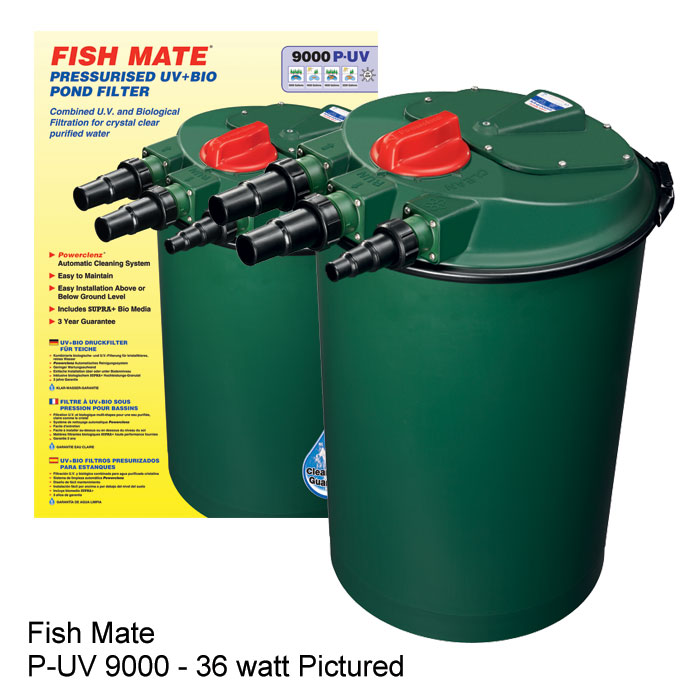 Fish mate external pressurized bio uv pond filters for Biological pond filter