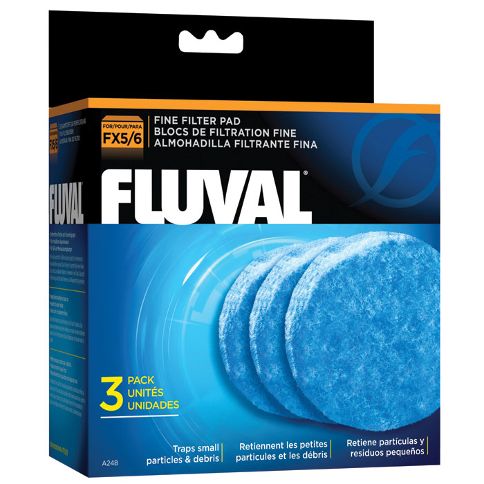 Fluval Polishing Pad For Fx5 And Fx6 Medium Blue 3 Pk.