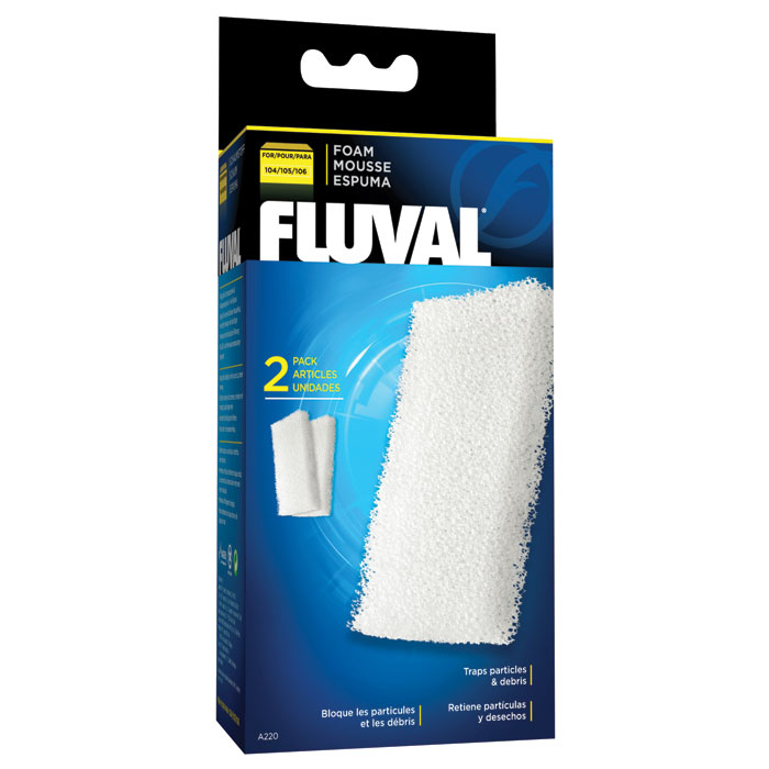 Foam Block For Fluval 104 105 And 106 Canister Filters 2 Pk.