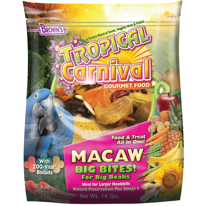 Tropical Carnival Gourmet Food For Macaws 14 Lb