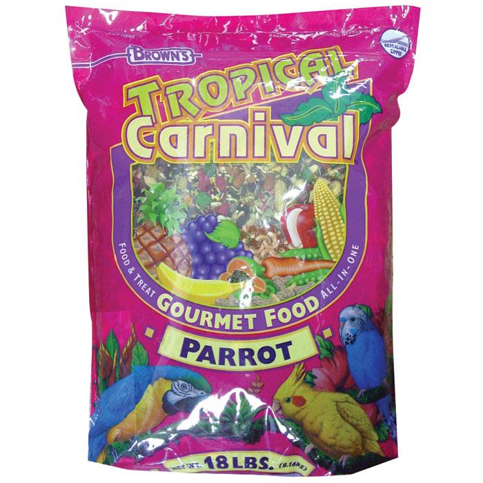 Tropical Carnival Gourmet Foods Small Hookbills 18 Lb.