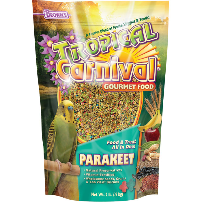 Tropical Carnival Gourmet Foods For Parakeets 2 Lb.