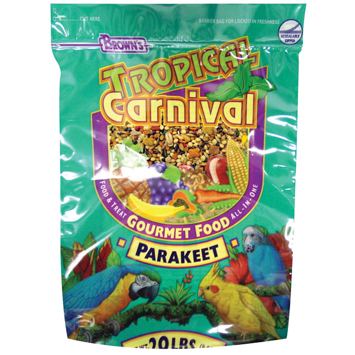 Tropical Carnival Gourmet Foods For Parakeets 20 Lb.