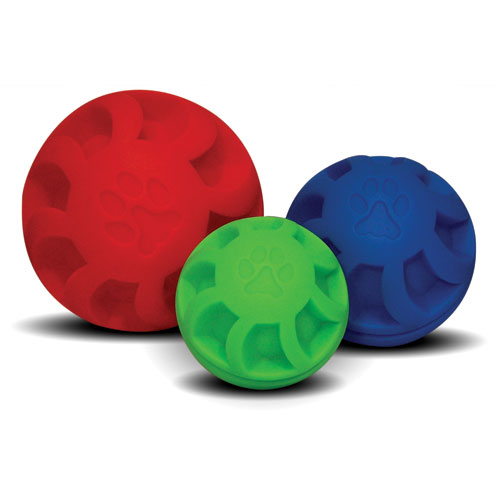 The Swirl Ball Dog Toy Green 4 In
