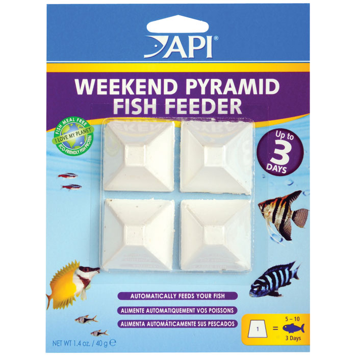 Api 3 Day Pyramid Fish Feeder 4 Pk.