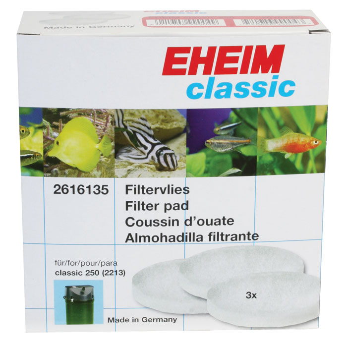 Fine White Filter Pads For Eheim 2215 Canister Filters 3 Pk.