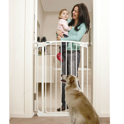 X Tall Swing Closed Security Gate White 40.5 In X 28 32 In