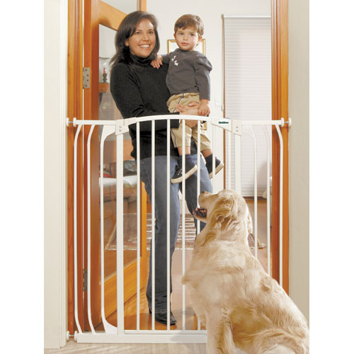 Extra Tall Security Gate White 40.5 In X 38 42.5 In.