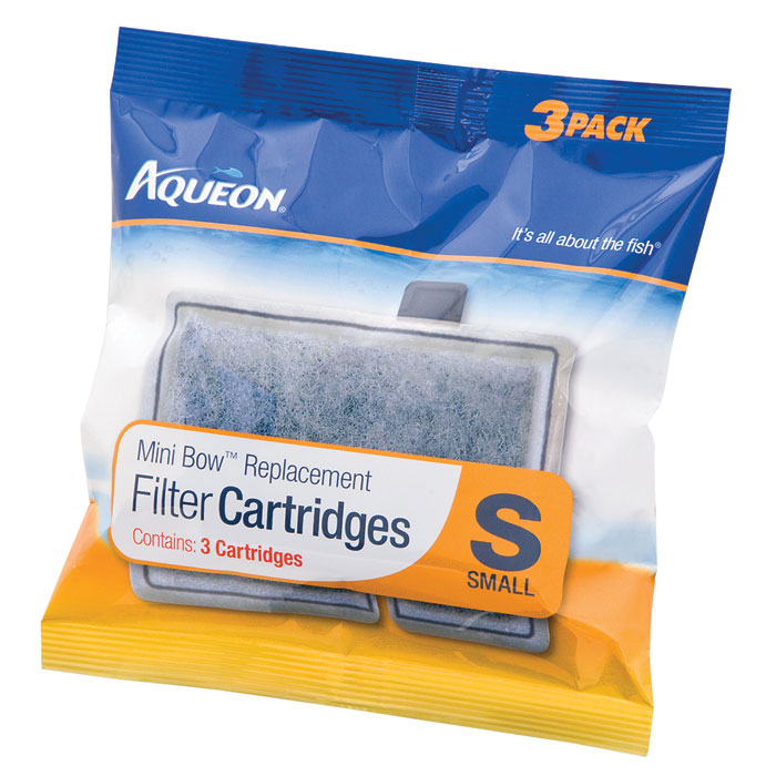 aqueon mini bow filter cartridge small - 3 pk on lovemypets.com