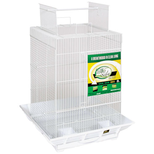 Clean Life Playtop Cage 18 In. X 18 In. X 27 In. White