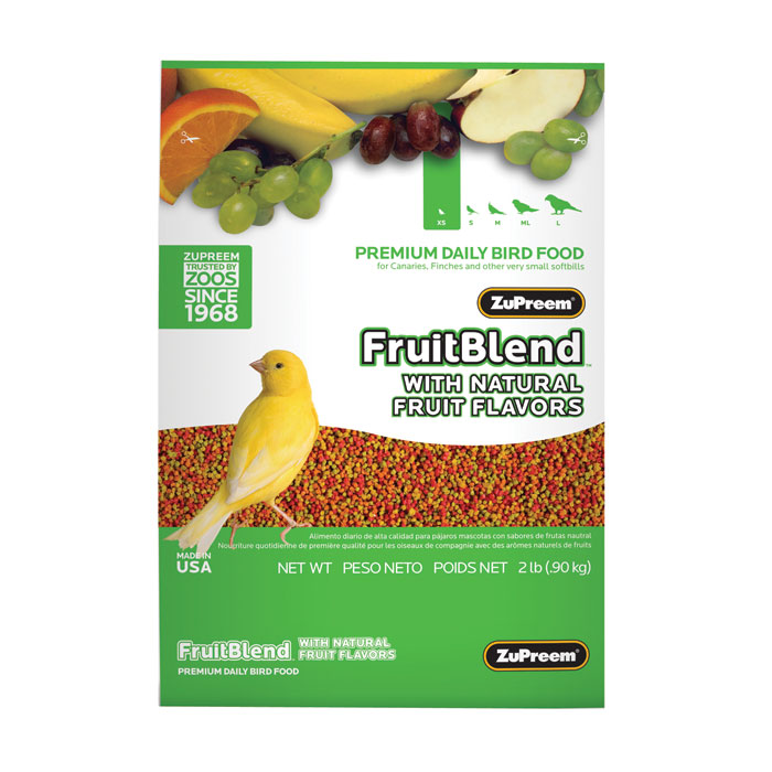 Fruit Blend Diet For Canaries And Finches 2 Lb.