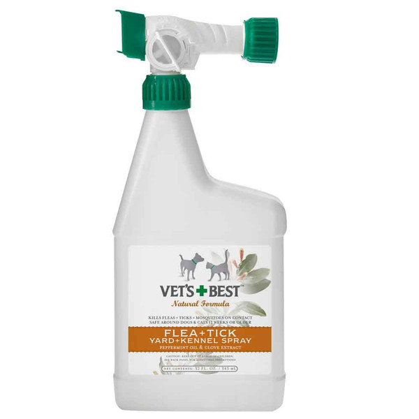 Vet's Best Natural Flea & Tick Yard & Kennel Spray - 32 oz.
