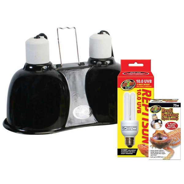 Zoo Med Desert Uvb Amp Heat Lighting Kit That Pet Place