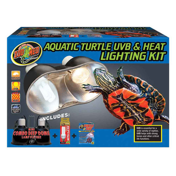 Zoo Med Aquatic Turtle Uvb Amp Heat Lighting Kit